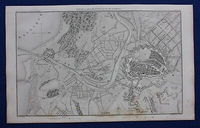 Original antique map, POLAND, ENVIRONS OF DANZIG, GDANSK, A.H. Dufour, 1859