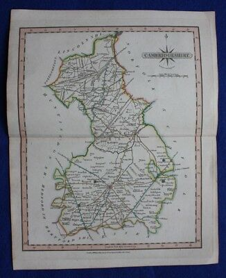 Original antique map CAMBRIDGESHIRE, John Cary, 1809