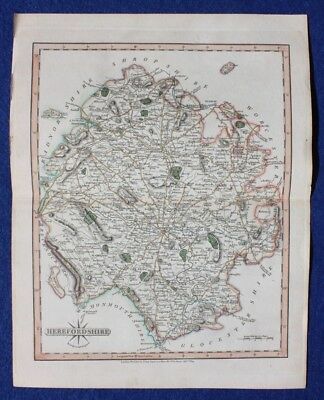Original antique map HEREFORDSHIRE, John Cary, 1809