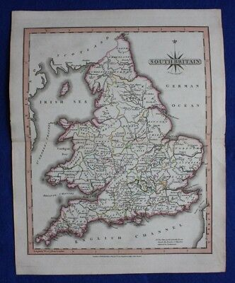Original antique map SOUTH BRITAIN, ENGLAND, WALES, John Cary, 1809