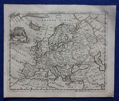 Original antique map EUROPE, Thomas Jefferys, c.1756