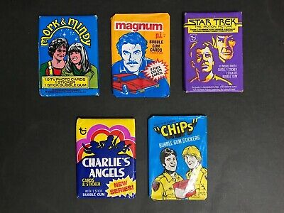 Trading Cards Wax Packs From T.v Shows Lot Of 5 Unopened Packs