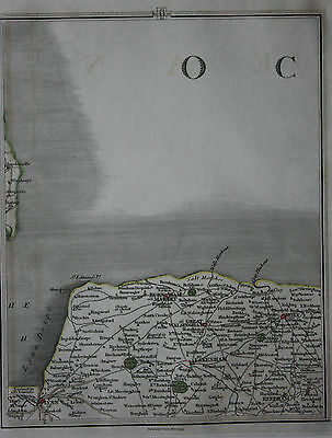 Original antique map NORFOLK, HOLT, FAKENHAM, REEPHAM, Cary, 1794