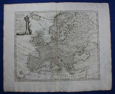 Antique atlas map EUROPE  'A NEW AND ACCURATE MAP OF EUROPE', E. Bowen, 1747