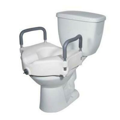 DRIVE MEDICAL 1 EA RTL12027RA 2 in Locking Elevated Toilet Seat with Tool CHOP