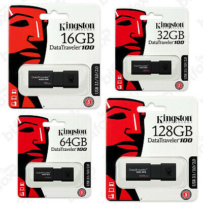 Pendrive Usb 3.1 Kingston Chiavetta 8 16 32 64 128 Gb Memoria 3.0 Penna Pennetta
