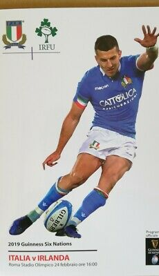 Italy v Ireland 2019 Six Nations rugby match programme Rome