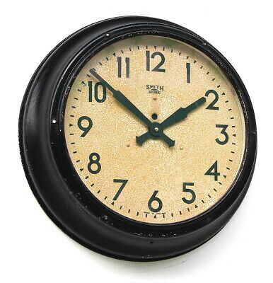 ENGLISH 1950s SMITHS Industrial Office Midcentury Vintage Retro Factory Clock
