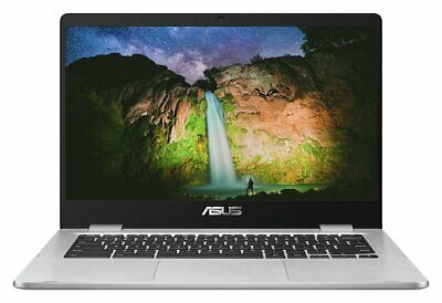 ASUS C423 14 Inch Celeron N3350 Dual Core 4GB 32GB Chromebook - Grey