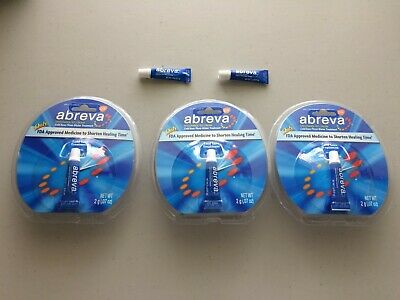 5 Tubes Abreva Docosanol 10% Cream Cold Sore/Fever Blister Treatment 2g each