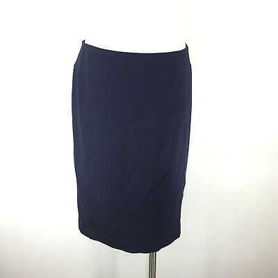 fc8cb56fb4 Talbots M 8 Navy Blue Ponte Knit Straight Pencil Skirt Career Cocktail  Stretch