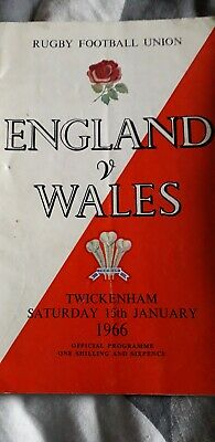 England V Wales Rugby Programme 1966