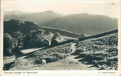Real photo; martindale; evening sunlight;