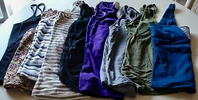 Women''s Summer Tops lot 0f 9 Fits S-M Sleeveless Stretch Tanks Various colors