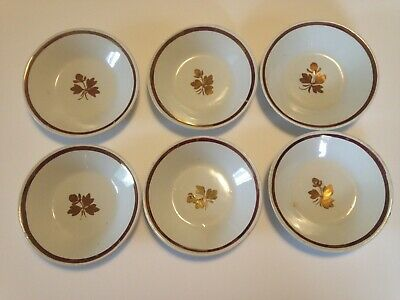 "6 Mellor & Taylor Co.England VINTAGE  Ironstone Tea Leaf 4.75"" Small  Bowls"