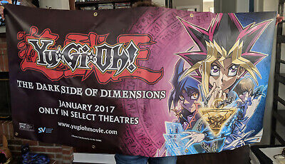 """HUGE Yu-Gi-Oh! Movie Banner - The Darkside of Dimensions - 30"""" x 60"""" Poster"""