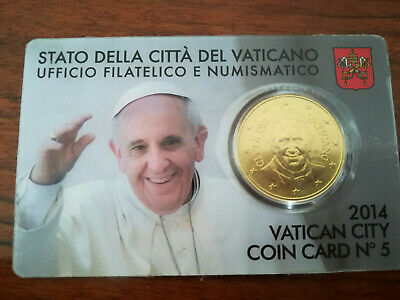 VATICAN CITY COIN CARD NO. 5 (2014 - Pontificate of Pope Francis)