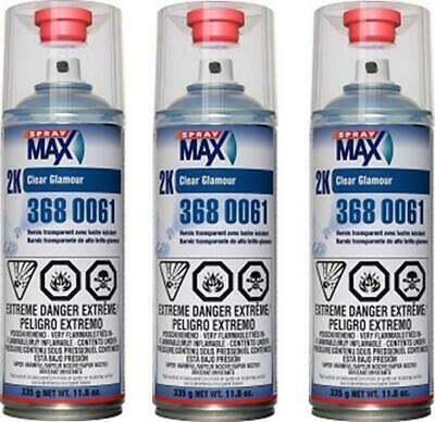 3 Cans Of Usc Spraymax 3680061 2K Clearcoat (Usc-3680061)