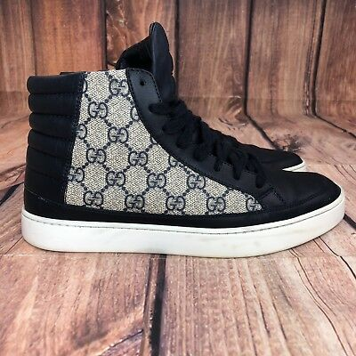 a6bd2a059739 Gucci Common High Top Graphite GG Sneakers Men Shoe Size 6.5 G - Women 8.5  Shoes