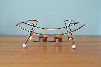 Vintage atomic candle holder  food warmer mid century CPLWT