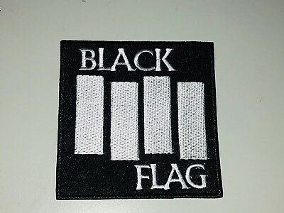 1x Black Flag Rock Band Patches Embroidered Cloth Sew On Punk Henry Rollins
