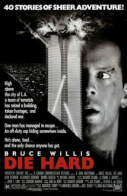 Die Hard movie poster (a) : 11 x 17 inches : Bruce Willis poster