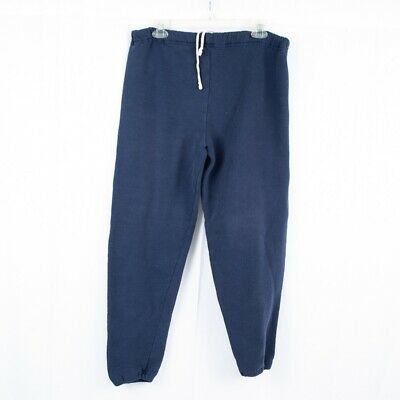 Russell Athletic VTG 90's Blue Poly Cotton Blend Mens Sweatpants Joggers - M USA