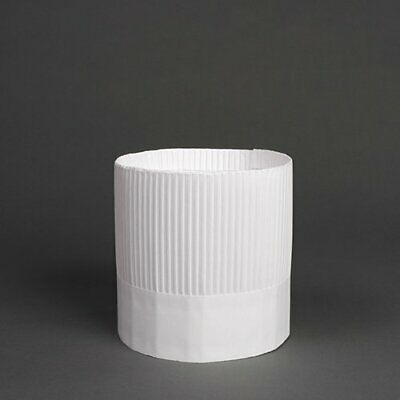 Royal Paper Products SCH7 Stirling Fluted Chef's Hats, Paper, White, Adjustable,