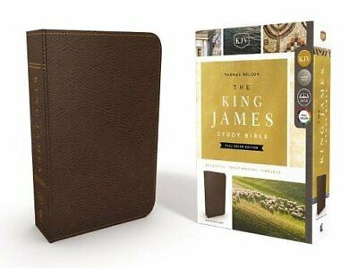 KJV, The King James Study Bible (4135A - Brown Bonded Leather)