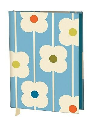 NEW Orla Kiely Flower Fabric-Covered A6 Journal