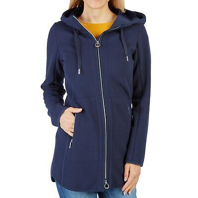 9641ead888e9c8 Tom Tailor Damen Sweatmantel Sweatjacke Mantel Jacke Sweat Kapuze Mode  marine