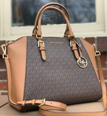 fab81114eba711 Nwt Michael Kors Ciara Large Bag Brown Acorn Saffiano Leather Satchel Tote  Bag