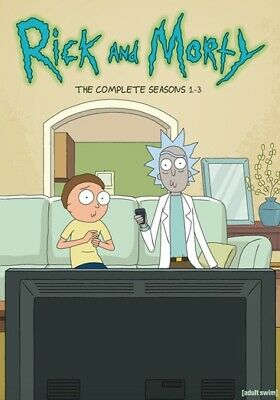 Rick & Morty: Complete Seasons 1-3 (DVD,2019)
