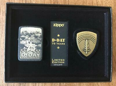 Zippo 75th Anniversary D-Day Lighter Set, Limited Edition, 29930, New In Box
