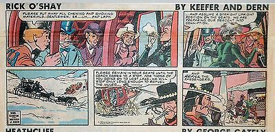 Rick O'Shay by Mel Keefer - full color Sunday comic page - December 16, 1979