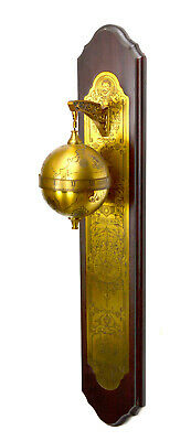 1981 English Sir Francis Drake Brass Gravity Driven Falling Ball Wall Clock