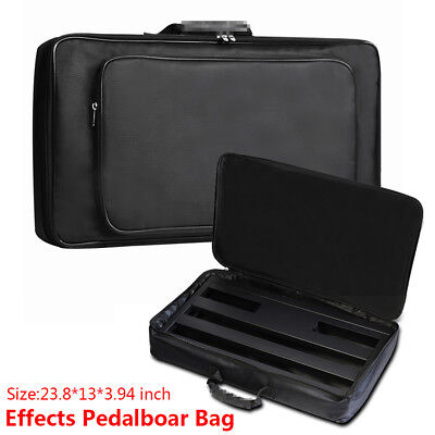 High Quality Guitar Pedal Board Bag Black Effects Pedalboard Storage Holder 24""