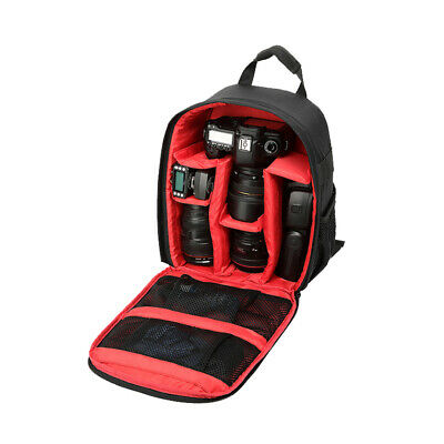 Multifunctional Camera Backpack Bag Case Red for Sony Canon Nikon DSLR