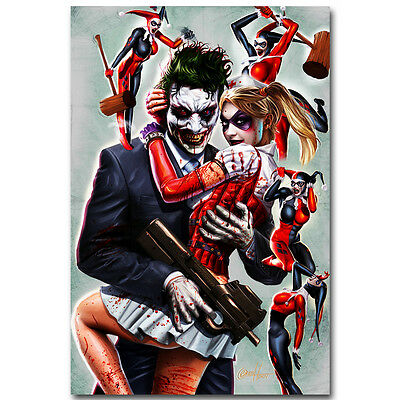 DC COMICS JOKER and HARLEY QUINN KISS POSTER Shrink Wrapped size 24x36