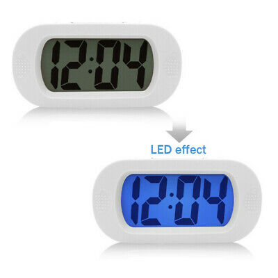 LCD Digital Mini Travel Alarm Clock With LED Night Light Snooze Lazy Sound Alarm