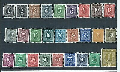 Germany Allied Occupation stamps. 1946-47 Numerals set MNH (D988)