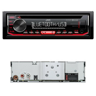 JVC KD-R792BT USB/CD-Receiver Bluetooth Autoradio A2DP Radio Display rot B-Ware