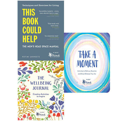 MIND This Book Could Help,The Wellbeing Journal,Take A Moment 3 Books Collection