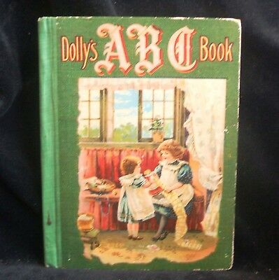 Antique Vintage Children's Book 1903 Dolly's ABC Book Illustrated Stories