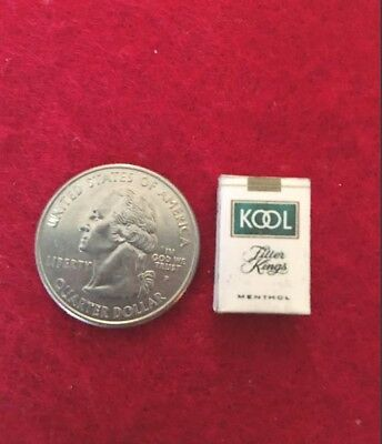 "1:6 scale handmade miniature for 11""-12"" size dolls - Kool cigarette pack"