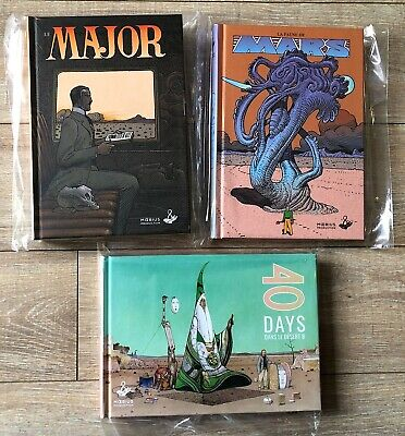 LOT 3 MOEBIUS FAUNE DE MARS + MAJOR + 40 JOURS DESERT B Reed AUGMENTEE 2018 NEUF