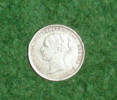 1883 Victoria Silver 3d Three Pence Coin. Mint Condition. Unc