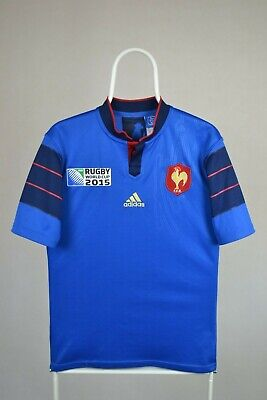Adidas France Rugby Union World Cup 2015 Home Jersey Size S SMALL