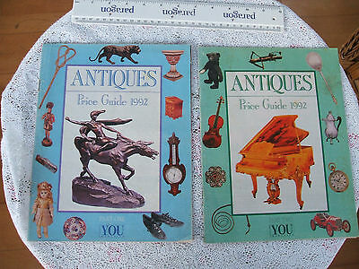 2 x VINTAGE (A4 Colour) PRICE GUIDES TO ANTIQUES.Good Cond.