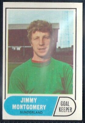 A&Bc-Football 1969 Green Back Facts-#076- Sunderland - Jimmy Montgomery